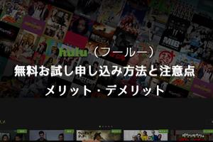 Hulu 無料お試し申し込み方法と注意点、メリット・デメリット【VOD おすすめ】